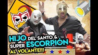 Hijo del SANTO & Súper Escorpión al volante (la leyenda y el enmascarado de plata)