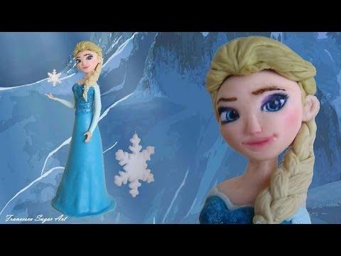 Fondant Disney Elsa Frozen Cake Topper - Elsa in Pasta di Zucchero per una torta