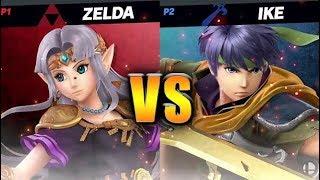 Super Smash Bros. Ultimate - Zelda vs Ike