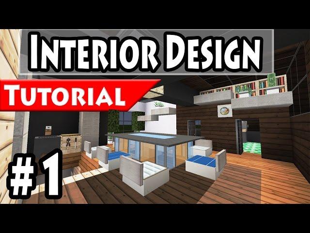 Minecraft modern house interior design tutorial part 1 1 8 for Modern house 8 part 3