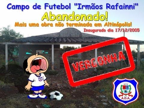 Campo de Futebol Abandonado - Mais uma obra inacabada em Altinópolis - SP