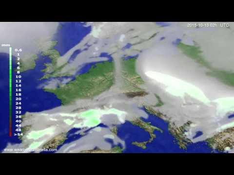 Precipitation forecast Europe 2015-10-09