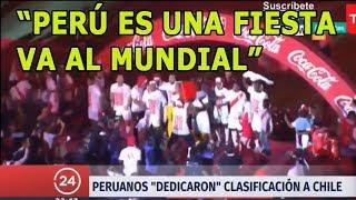 Así informó TV Chilena clasificación de Perú: Perú es una fiesta, va al Mundial Rusia 2018