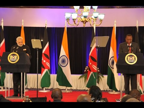 PM Modi at the Joint Press statements between India & Kenya in Kenya