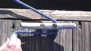 Boating Knots: Cleat Hitch