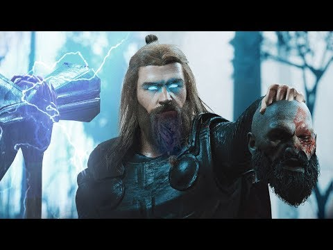 "KRATOS vs. THOR (ALTERNATE ENDING) | ""THOR"" KILLS ""KRATOS""  -  God Of War vs. God Of Thunder"