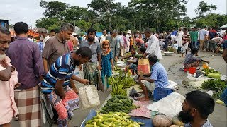 Amazing Bangladeshi rural village vegetables market located on School field and here all vegetables come from direct field of farmer and most of the seller are farmer here.
