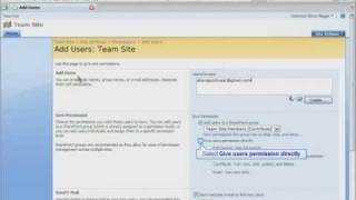 SharePoint 2007 Tutorial - How To Add a SharePoint User