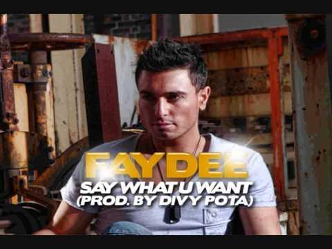 Faydee - Say What You Want lyrics