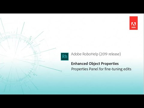 Enhanced Object Properties dialog - Adobe RoboHelp (2019 release)