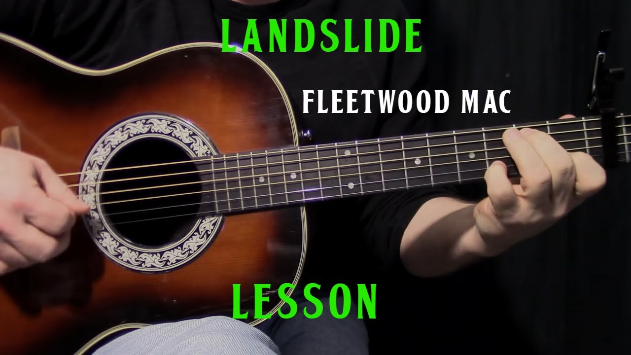 how to play Landslide by Fleetwood Mac – acoustic guitar lesson