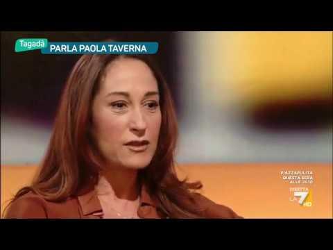 Paola Taverna (M5S) a Tagada – La7 13/4/2017