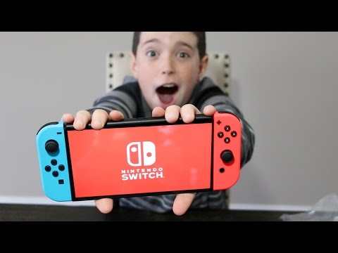 THEY GAVE US A NINTENDO SWITCH!! FULL UNBOXING!!