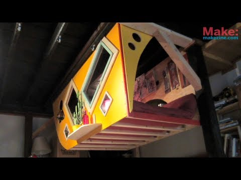 makemagazine - Here's another video of one of the many projects Deek's been messing with lately, its a legless bunk set-up called 