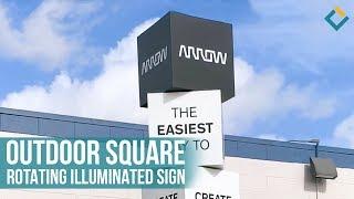 Outdoor Square Rotating Illuminated Sign