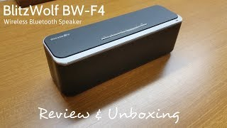 Ever wanted to get a cheap, $100 and below portable bluetooth speaker for your general use? Or just to blast some wild music into your life? Well, the BlitzWolf BW-F4 can cater to your needs with a portable long-lasting 4000mah built-in battery which can last up to 10 Hours of playback time! You can get yours @ Banggood.com via this link direct from the manufacturer! FREE SHIPPING TO SELECTED* COUNTRIES!Link: https://goo.gl/upQZFkINPUT THE PROMO CODE: BWF4YU & GET 20% OFF YOUR PURCHASE!SEE MORE BLITZWOLF PRODUCTS: https://goo.gl/N2WY5RThank you for watching!© SAMUEL LEWIS