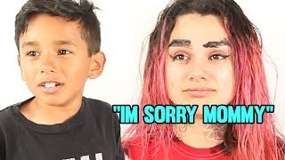 GET READY WITH ME 😭 8 Year Old Does My Makeup