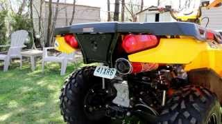 4. Big Gun Evo before and after comparison - 2012 Polaris Sportsman 500