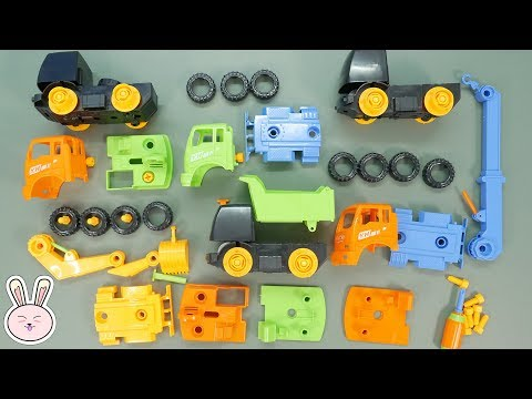 Trucks Assembly Toys Dump Trucks Crane Trucks and Digger | Build and Play | YapiTV Toys