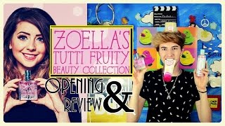 ZOELLA BEAUTY || TUTTI FRUITY COLLECTION OPENING/REVIEW || MARK FERRIS