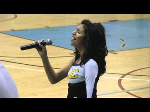 Tiffany Trujillo Sings the National Anthem on Senior Night