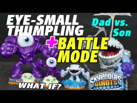 Thumpling & Eye-Small Sidekicks + Battle Mode Backwards (Skylanders Giants Unboxing & Surprise)