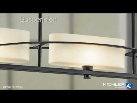 Video for Suspension Brushed Nickel Five-Light Wall Mounted Bath Fixture