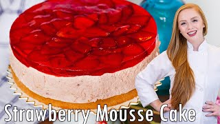 Strawberry Mousse Cake by Tatyana's Everyday Food