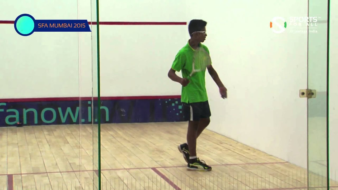 SFA Mumbai 2015 | Squash | Mehta Araash Vs Rahul Dharra | U15 | Boys | Q/F