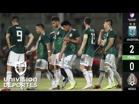 Argentina 2-0 México – Amistoso Internacional – Resumen y goles completo