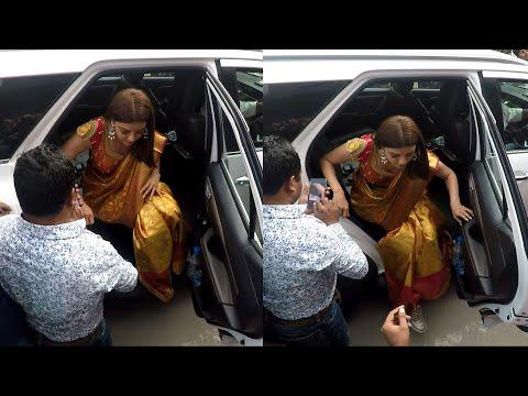 Telugu Top Heroine Kajal Agarwal Looking Awesome at Tirupati Visit