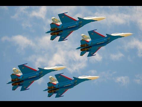 Выступление пилотажной группы «Русские витязи» в Малайзии на выставке «Лима-2017» - DomaVideo.Ru