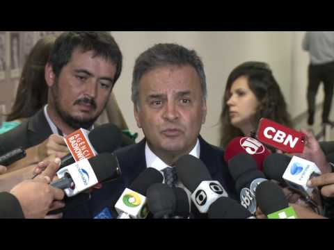 Coletiva senador Aécio Neves 21/02/17 – Sabatina Alexandre de Moraes
