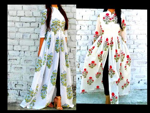 Video How to Cut & Stitch  Front Slit Long Gown   Maxi Dress (Eng Subtitles) Hindi URDU download in MP3, 3GP, MP4, WEBM, AVI, FLV January 2017