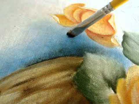 Pintura em tecido Eliane Nascimento: Pintando o fundo