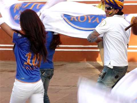 Shilpa Shetty and the Rajasthan Royals