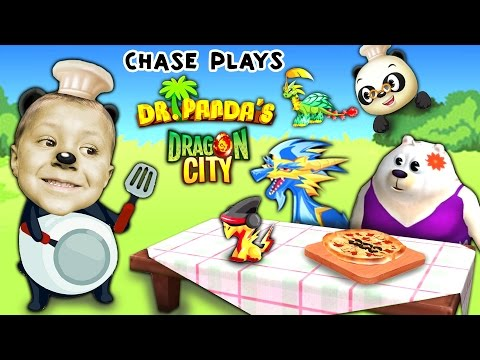 Chase Plays Dr. Panda's Restaurant 2 AGAIN + Dragon City (FGTEEV Random Gameplay)