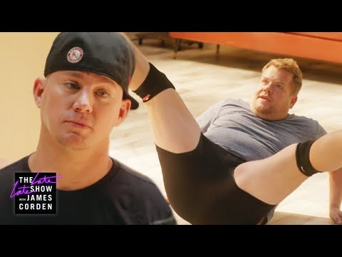 Channing Tatum Grooms James Corden for Magic Mike Live