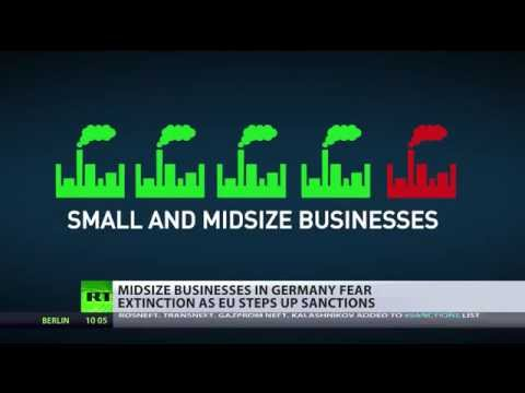 sanctions - German businesses are feeling the pinch of the political tit for tat. Sanctions imposed on Russia by the EU are effecting many mid-size businesses in the Eurozone's largest economy. RT's...