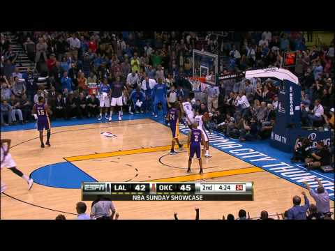 Video: Russell Westbrook goes lefty