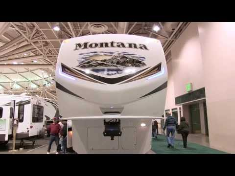 Keystone RV thumbnail for Video: Montana's 3900FB is garnering lots of attention. With a huge front bath including his and her vanity sinks, this floorplan appeals to those looking for a full time or extended stay coach.