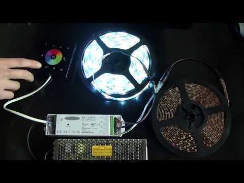 Montaż taśm LED, sterowniki RGBW, inteligentne sterowanie domu, mieszkania