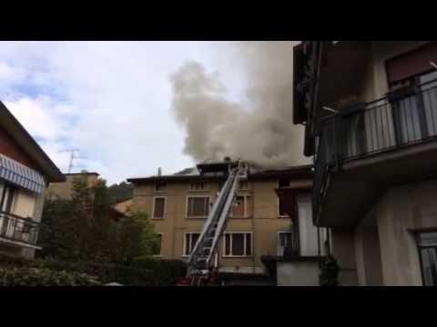 Incendio a Porto Ceresio