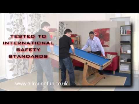 BCE 6ft Folding Leg Pool Table FP-6TT