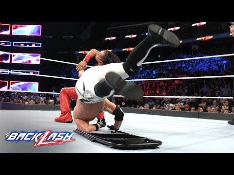 Shinsuke Nakamura Mercilessly Slams AJ Styles Onto A Steel Chair: WWE Backlash 2018 (WWE Network)