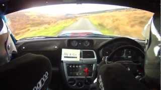 Chris Kelly Rally Isle Of Man 2012 SS14 Druidale, Car 43 Richard/Andy Barnard Subaru Impreza [HD]