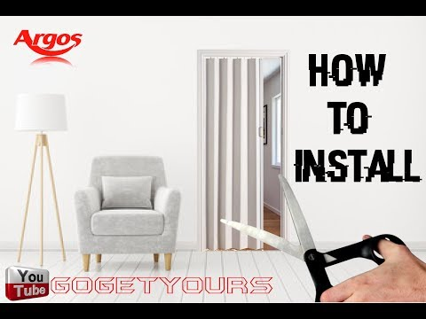 Folding Doors - how to install DIY tutorial