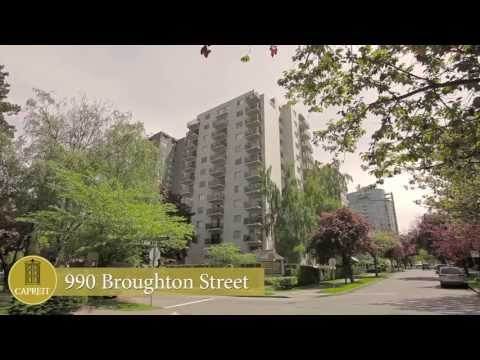 Vancouver Apartments for Rent Video - 990 Broughton St