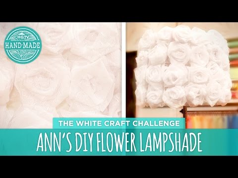 craft - We're nearing the end of the White Craft Challenge, and today Ann shows us how she made her beautiful flowered lampshade! To win this lamp, visit our HGTV blog here: http://blog.hgtv.com/design/201...