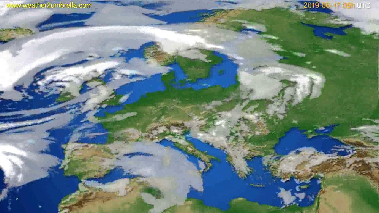 Cloud forecast Europe // modelrun: 00h UTC 2019-06-15